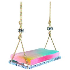 Sno-Cone Indoor Swing, Single Seater in Hand Dyed Cotton Velvet