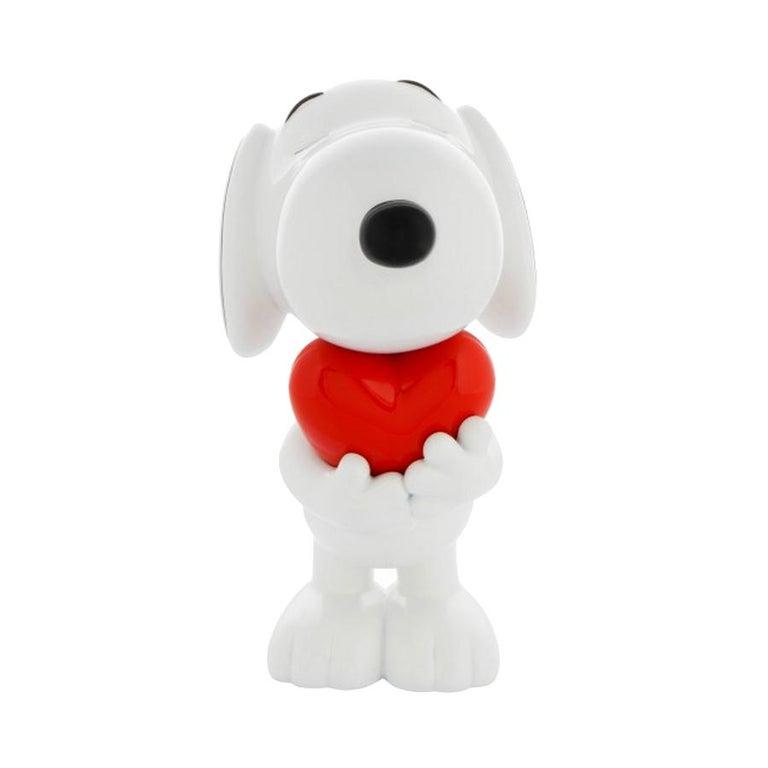 Modern In Stock in Los Angeles, Snoopy Heart Original Pop Sculpture Figurine For Sale