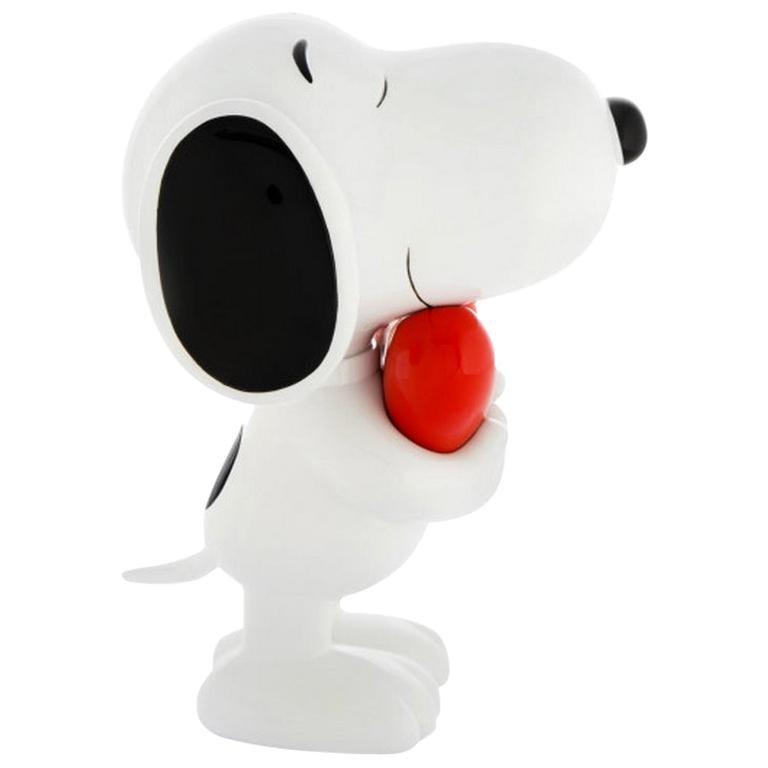 In Stock in Los Angeles, Snoopy Heart Original Pop Sculpture Figurine For Sale