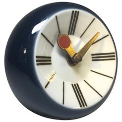 Snorre Læssøe Stephensen For Royal Copenhagen Porcelain Enamel Wall Clock, 1970s