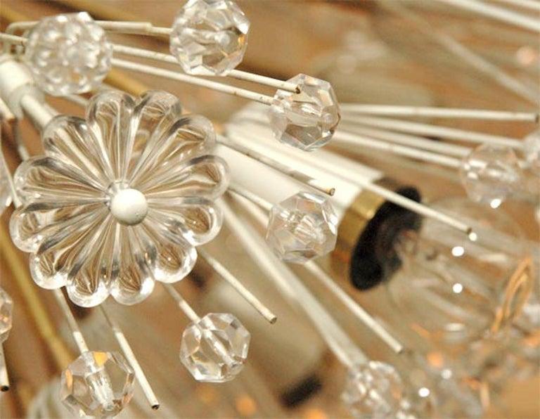 Snow Ball Sputnik Striking Pair of Midcentury Chandelier by Emil Stejnar, 1960s For Sale 5