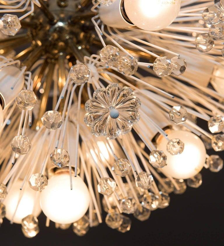 Snow Ball Sputnik Striking Pair of Midcentury Chandelier by Emil Stejnar, 1960s In Good Condition For Sale In Rome, IT