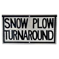Snow Plow Turnaround Sign