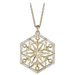 Snow Queen Diamond and 18K Gold Necklace