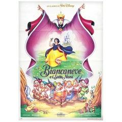 Snow White and the Seven Dwarfs R1980s Italian Due Fogli Film Poster