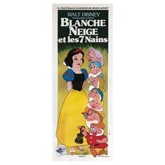 Snow White and the Seven Dwarfs R1983 French Door Panel Film Poster - Linen Back
