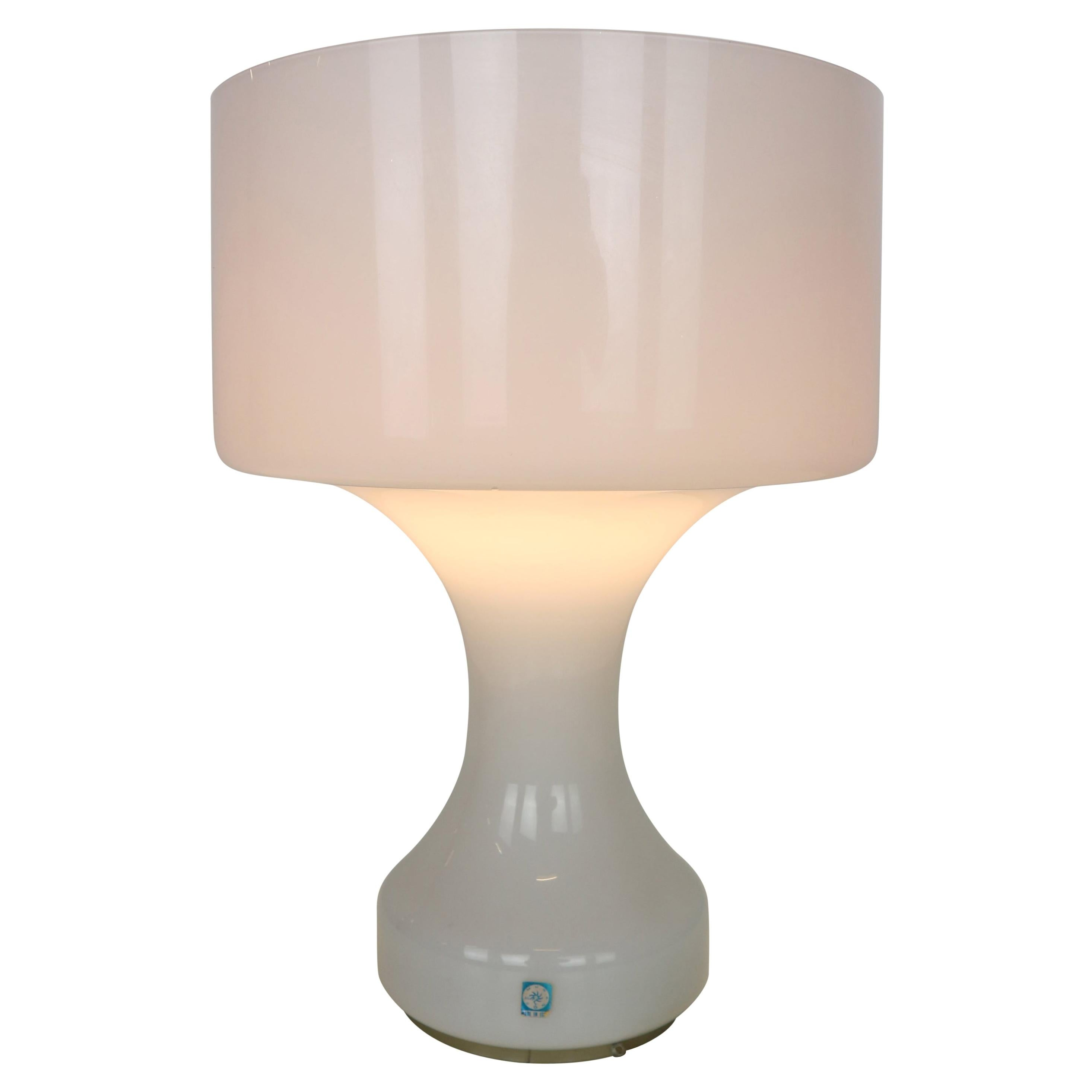 Snow White Murano Glass Table Lamp from Venini, 1960s