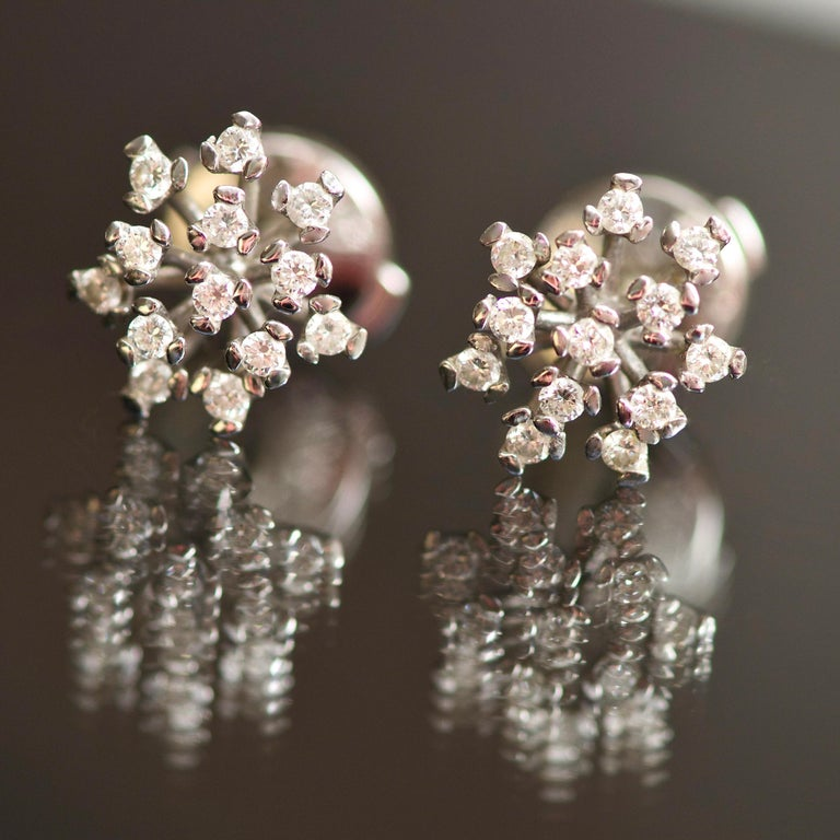 If you don't like usual stud earrings and want to find something special as an ideal jewelry for each and every day - these earrings are the best option for you. These earrings are very light, very airy, you'll never want to take them off.  Will