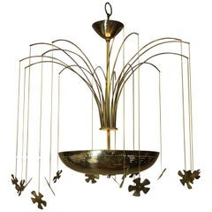 Snowflake Chandelier in the Manner of Paavo Tynell