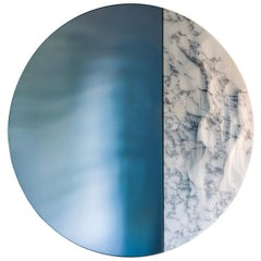 Snowmotion Contemporary Mirror with Marble by Ocrum