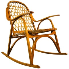 Snowshoe Maple Rocking Chair with Rawhide by Vermont Tubbs Furniture