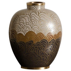 Snuff Vase, Shan Design, Amber by Robert Kuo, Cloisonné, Limited Edition
