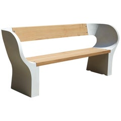 Concrete and Timber Snug Outdoor Bench 150cm