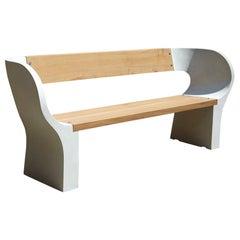 Outdoor Concrete Snug Bench, 200cm wide