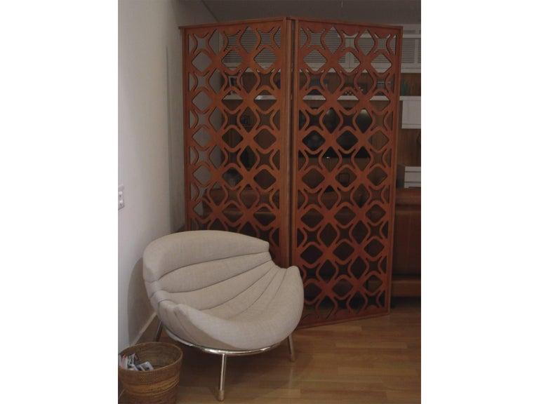 São Cristóvão Brazilian Contemporary Wood Laminate Folding Screen by Lattoog In New Condition For Sale In Rio de Janeiro, RJ