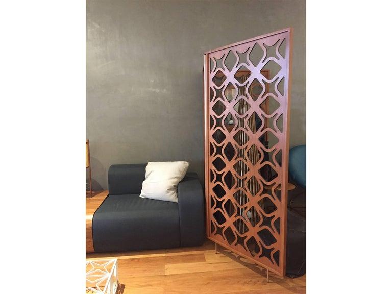 São Cristóvão Brazilian Contemporary Wood Laminate Folding Screen by Lattoog For Sale 1