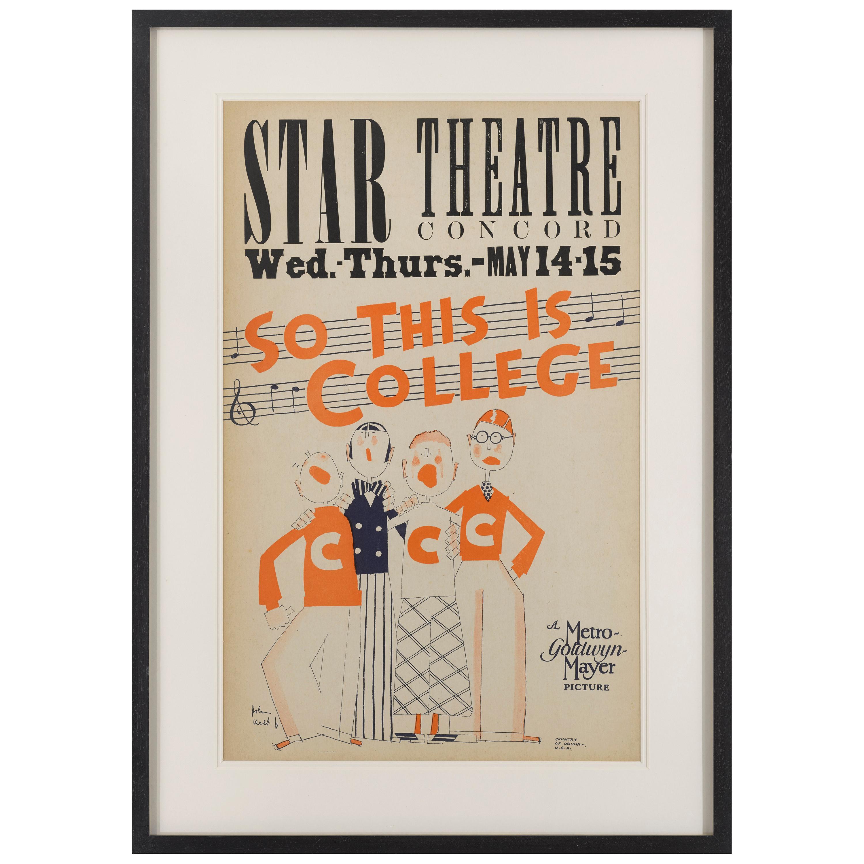 "So This Is College"" Original US Movie Poster"