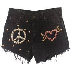 SOAB black cotton beads shorts