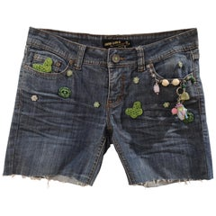 SOAB Blue cotton handmade denim shorts
