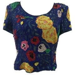 SOAB blue sequins shirt