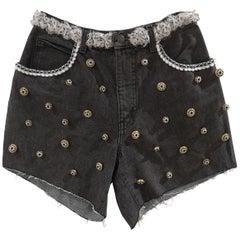 SOAB dark grey cotton denim shorts