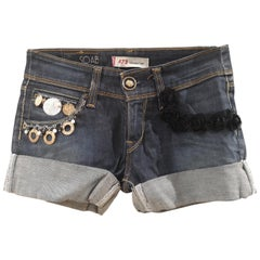 SOAB Denim skinny with bijoux shorts