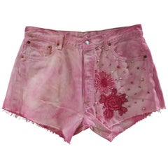 SOAB Fucsia pink with beads cotton short