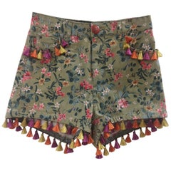 SOAB green flowers shorts