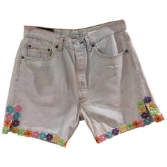 SOAB Handmade light blue denim shorts
