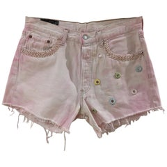 SOAB Handmade light pink denim shorts