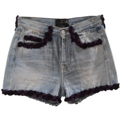 SOAB light blue cotton denim shorts