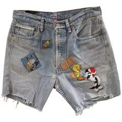 SOAB light blue looney tunes shorts