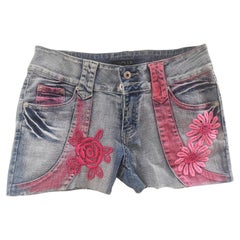 SOAB light blue pink patterns shorts