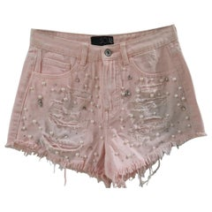 SOAB pink cotton beads and pearls handmade shorts
