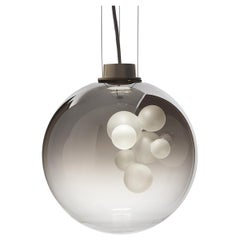 Soap Sphere, Melogranoblu, Suspension Lamp, Metallized Glass, Brushed Brass