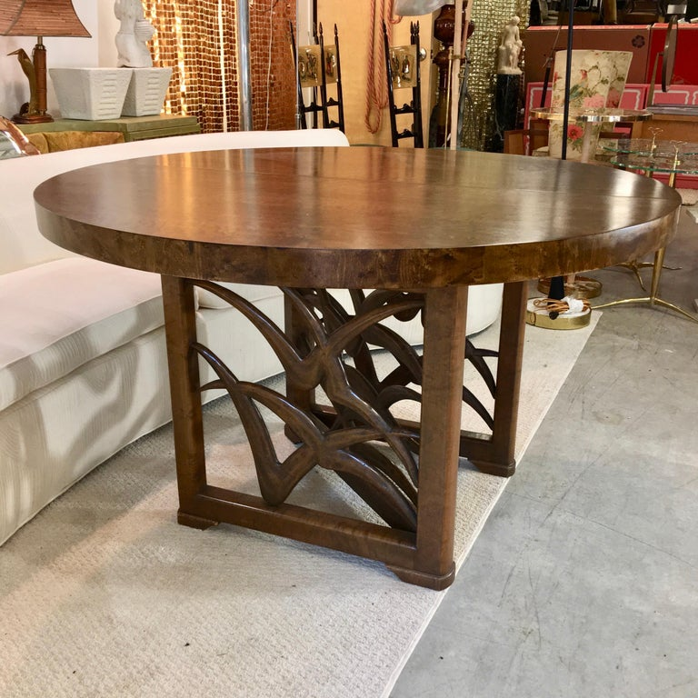 Mid-Century Modern Soaring Seagulls Dining Table by Adolfo Genovese For Sale