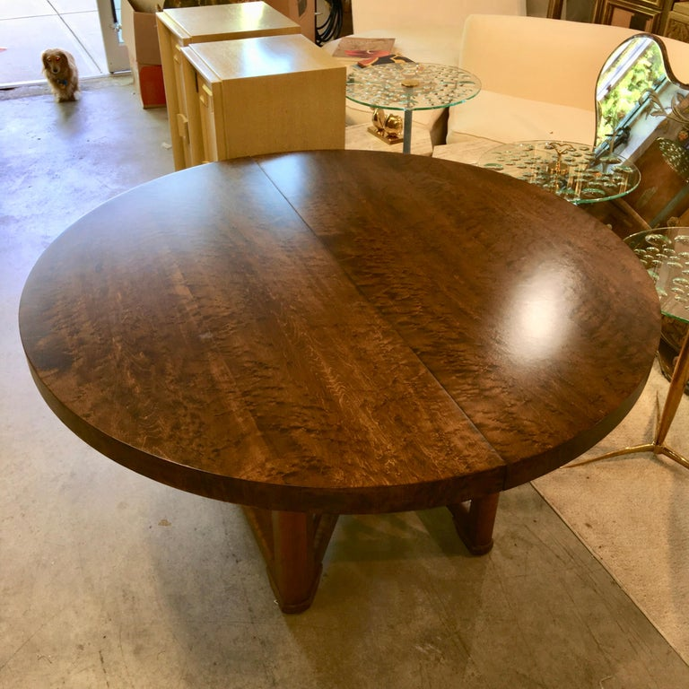 Walnut Soaring Seagulls Dining Table by Adolfo Genovese For Sale