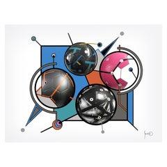 Soccer World / Art / Gicleé/ Silvino Lopeztovar