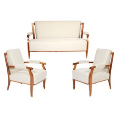 Sofa and Pair of Armchairs by Jules Leleu, circa 1950