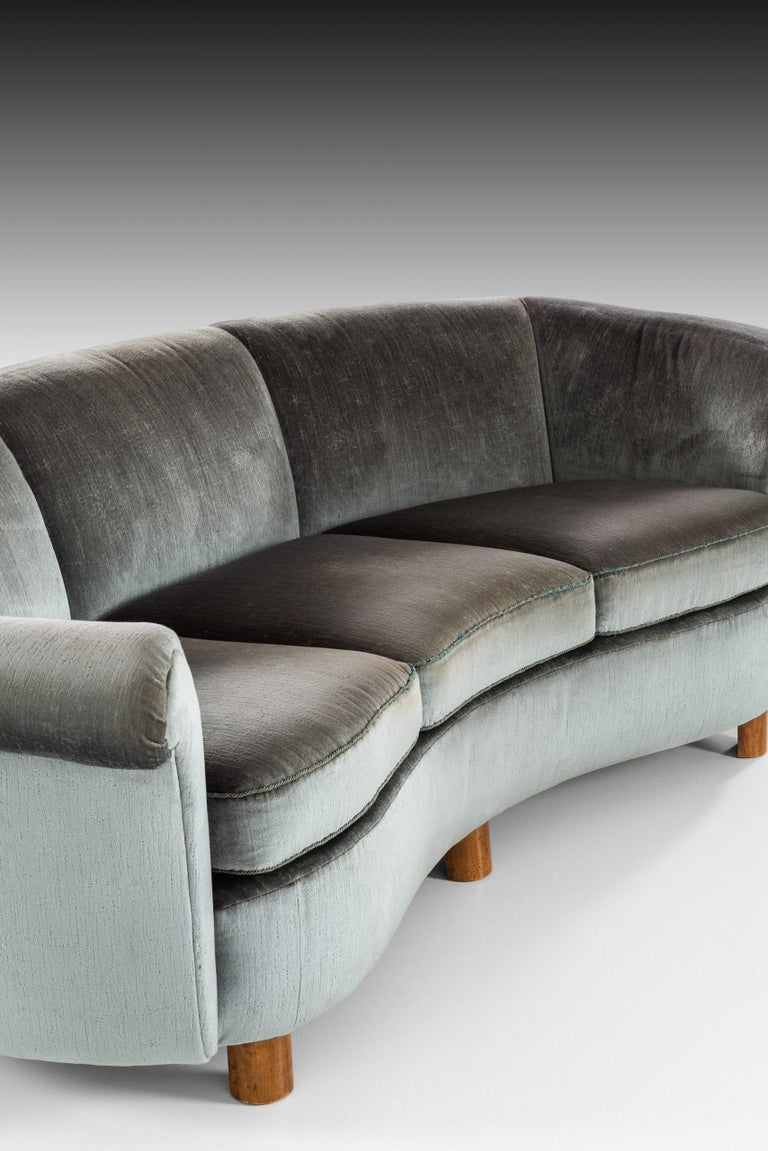 Sofa Attributed to Otto Schulz Produced by Boet in Sweden For Sale 4