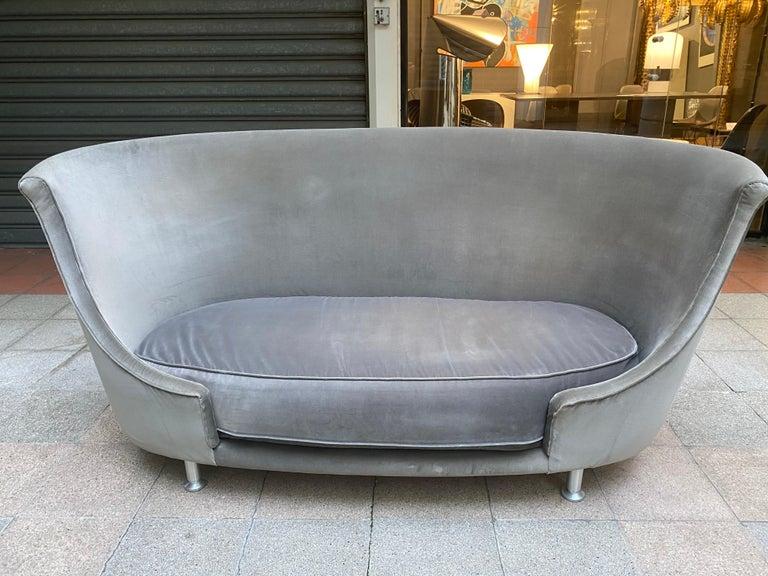Sofa or Bench in Shaved Velvet Moroso For Sale 5