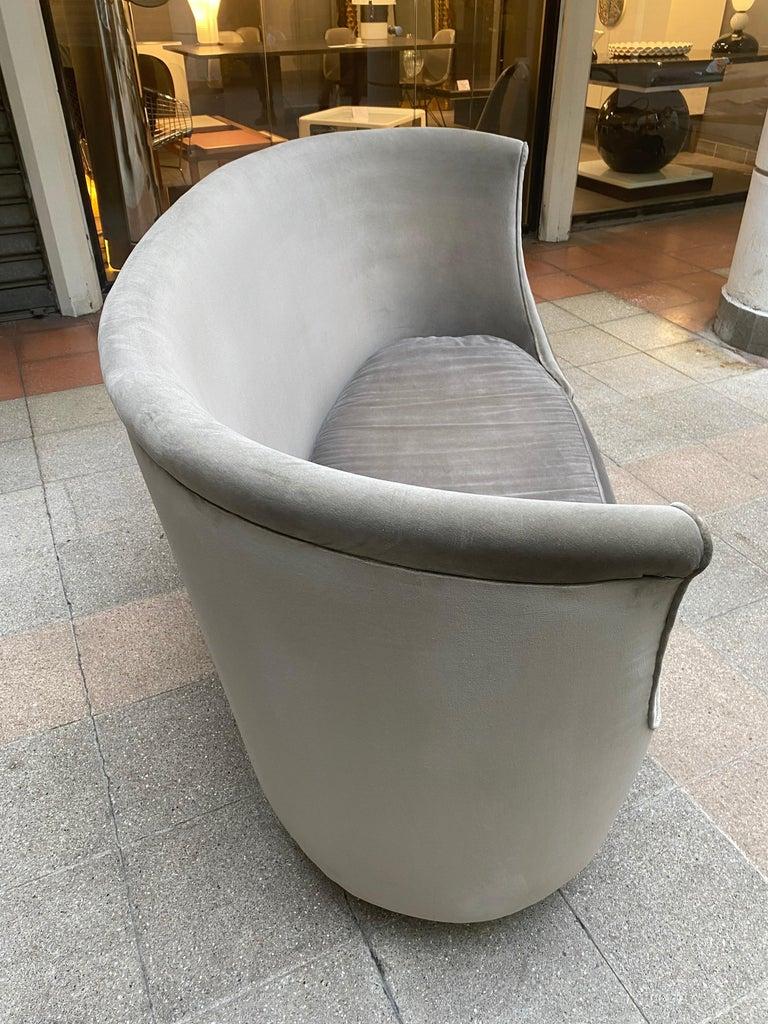 Sofa or Bench in Shaved Velvet Moroso For Sale 9