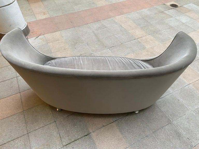 Sofa or Bench in Shaved Velvet Moroso For Sale 11