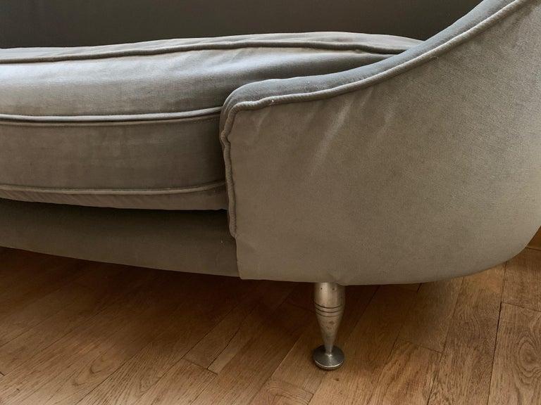 Fabric Sofa or Bench in Shaved Velvet Moroso For Sale