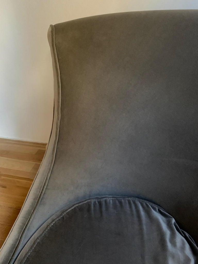 Sofa or Bench in Shaved Velvet Moroso For Sale 2