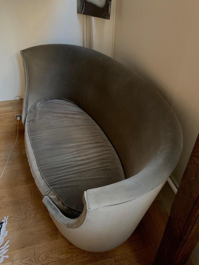 Sofa or Bench in Shaved Velvet Moroso For Sale 3