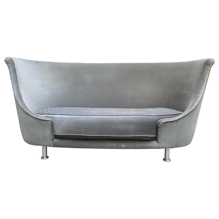 Sofa or Bench in Shaved Velvet Moroso For Sale