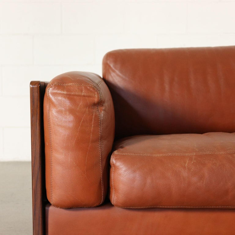 Sofa by Afra & Tobia Scarpa Leather Vintage, Italy, 1960s-1970s In Good Condition For Sale In Milano, IT