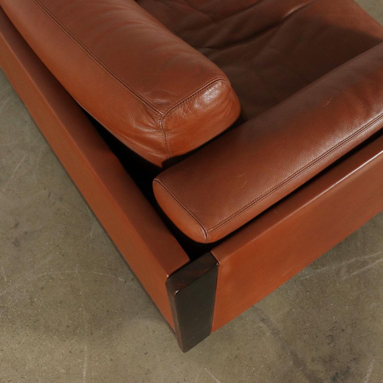 Mid-20th Century Sofa by Afra & Tobia Scarpa Leather Vintage, Italy, 1960s-1970s For Sale