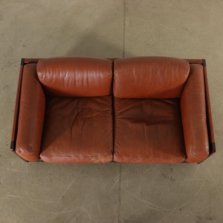 Sofa by Afra & Tobia Scarpa Leather Vintage, Italy, 1960s-1970s For Sale 2